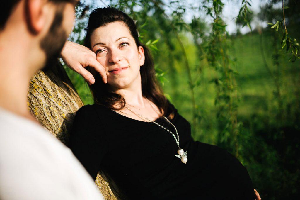 foto gravidanza al tramonto