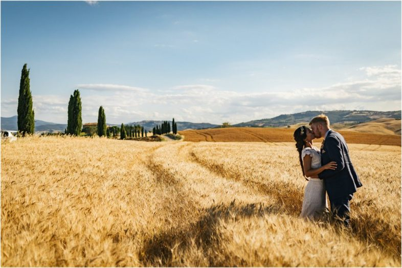 Wedding photographer in Monticchiello, Val d'Orcia