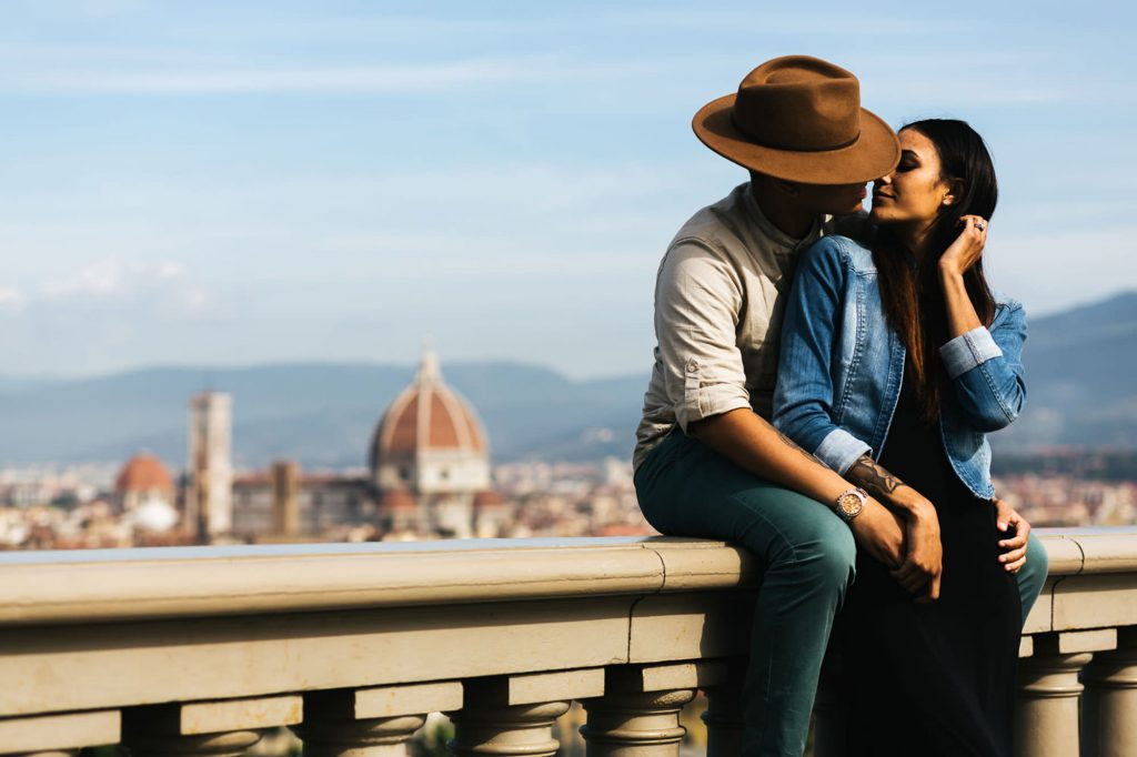 foto-di-coppia-firenze-piazzale michelangelo san miniato a monte
