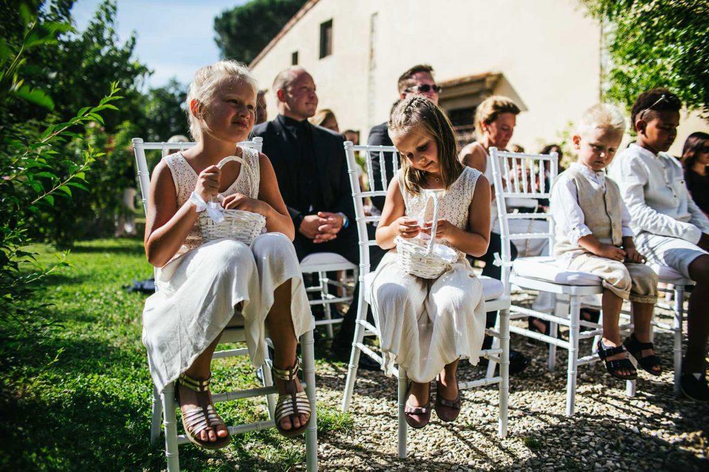 damigelle foto matrimonio all'aperto firenze