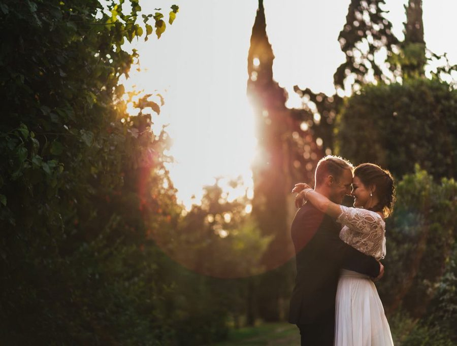 Fotografo matrimonio all'aperto Firenze Toscana