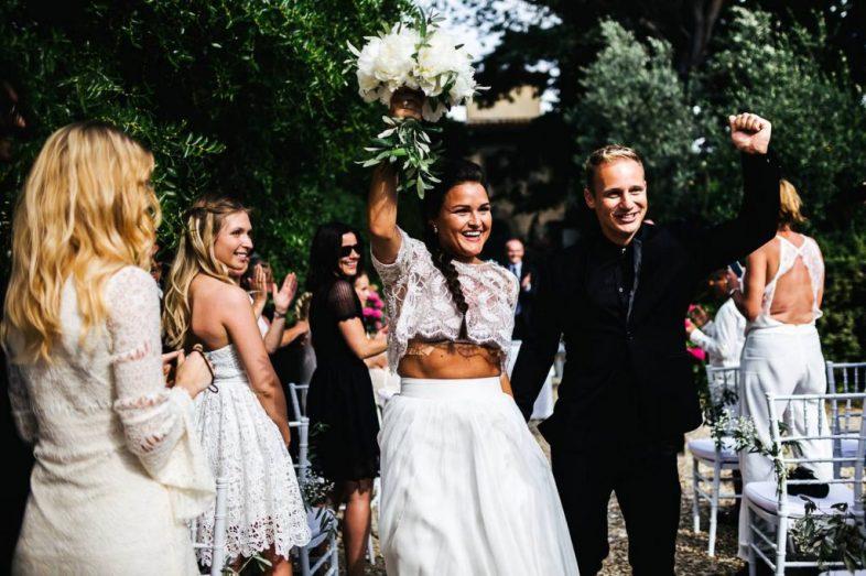 Wedding photographer Tuscany at Villa il Paradisino outdoor wedding in florence