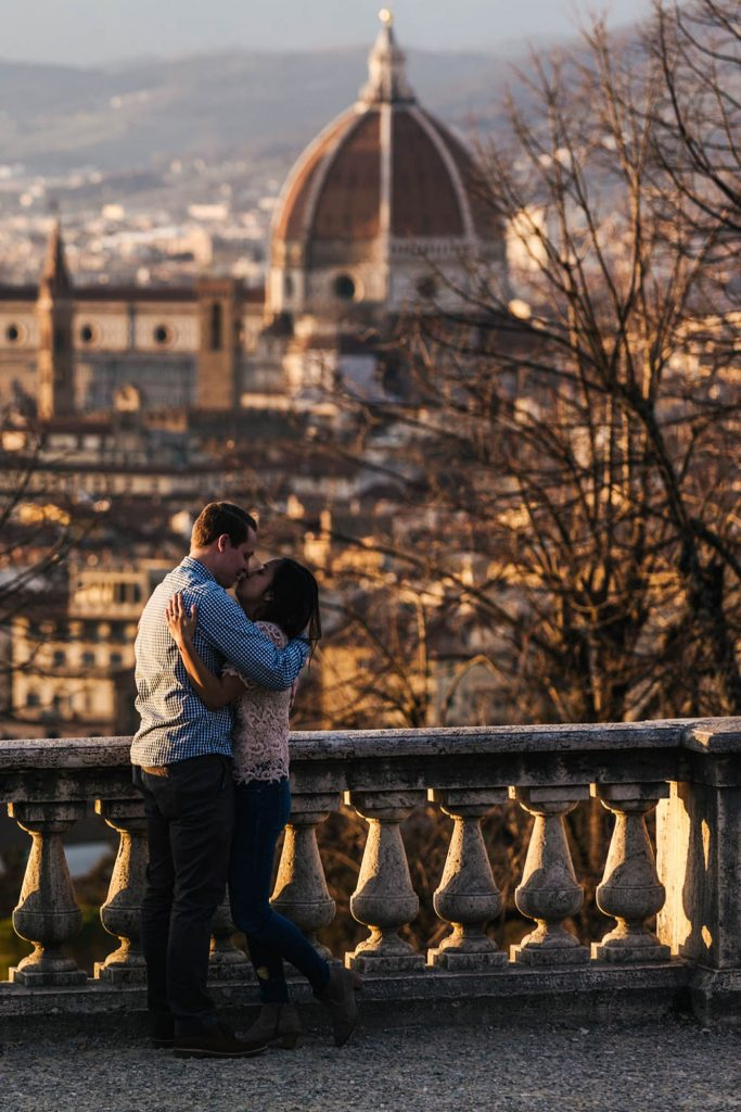 Pre Wedding Photographer tuscany: Surprise wedding proposal at San Miniato al Monte