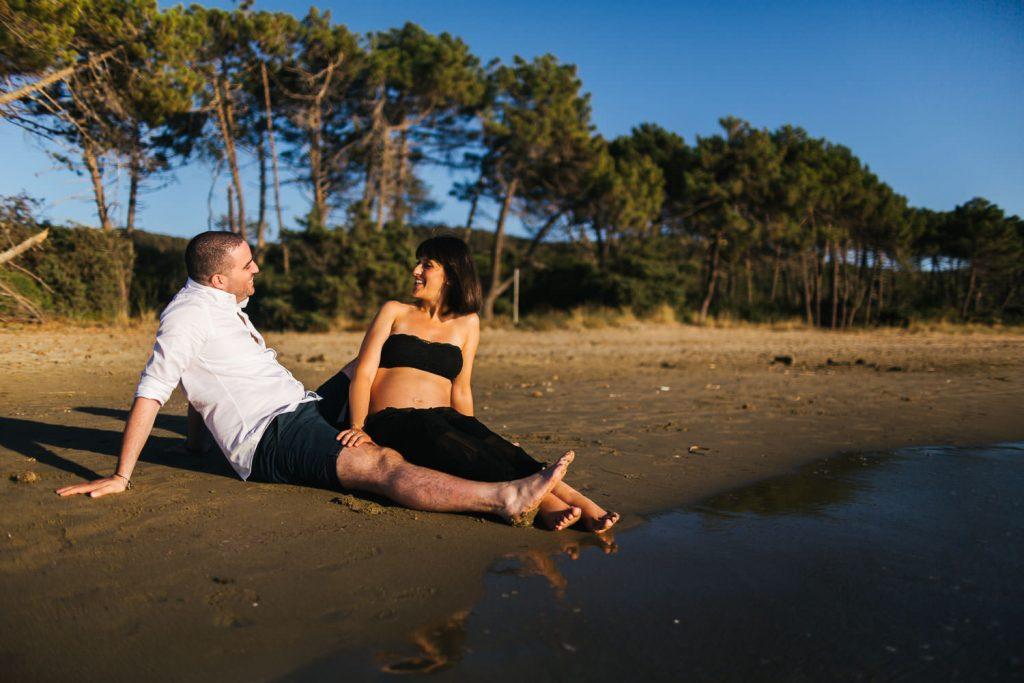 Foto di gravidanza in spiaggia-17
