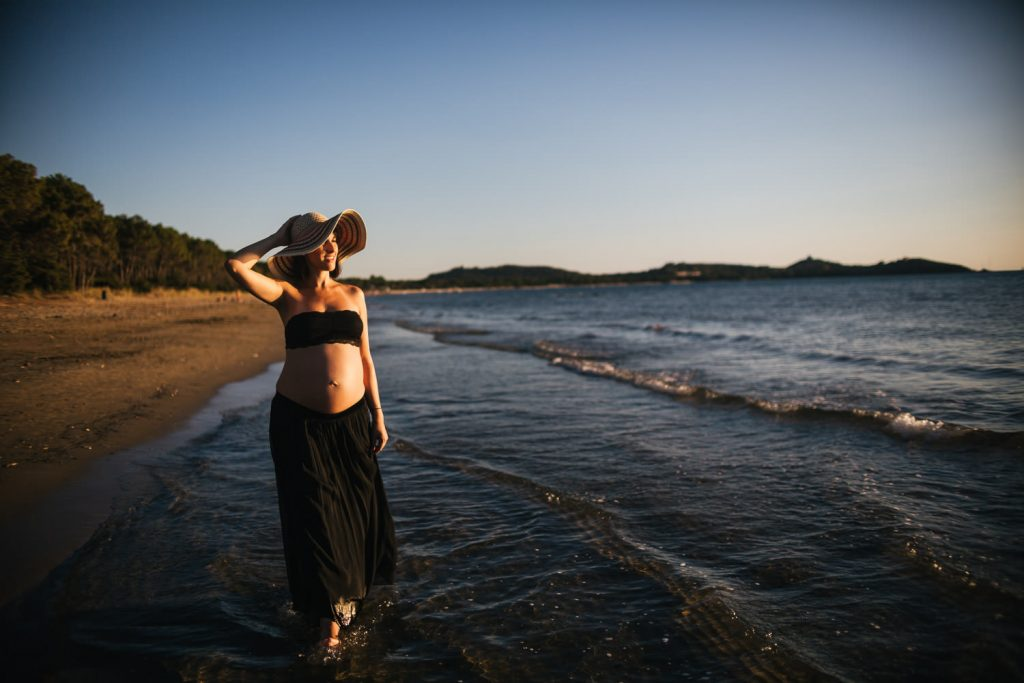 Foto di gravidanza in spiaggia-31