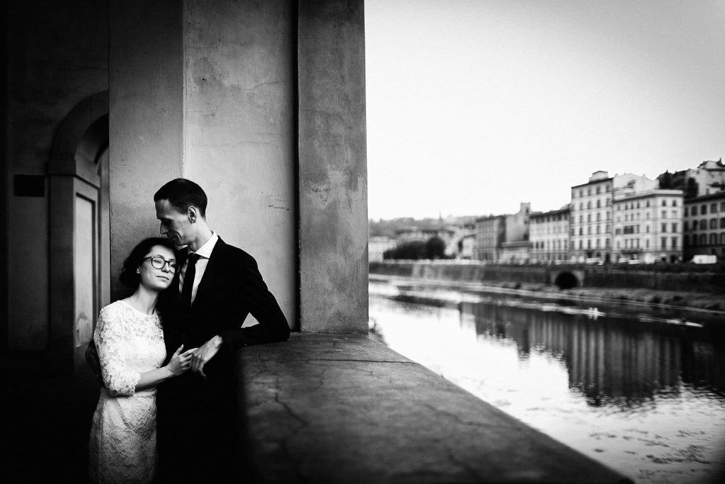 After Wedding Photographer Florence: Romantic couple portrait session in Tuscany