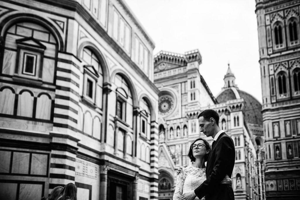 Servizio fotografico di coppia dopo il matrimonio a Firenze103