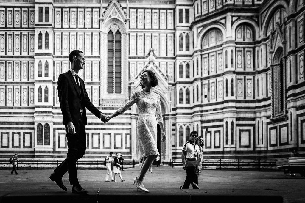 Servizio fotografico di coppia dopo il matrimonio a Firenze56
