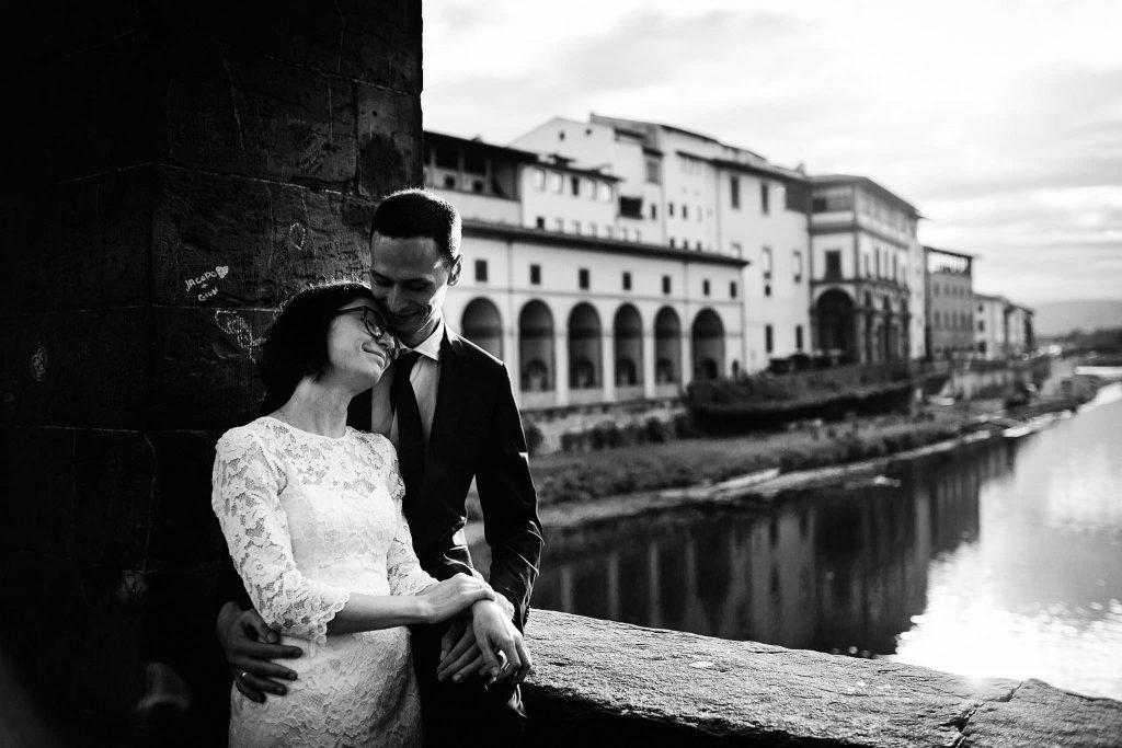 Servizio fotografico di coppia dopo il matrimonio a Firenze73