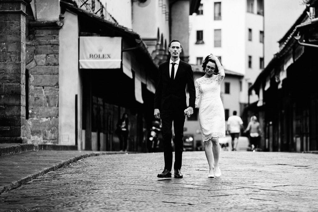 Servizio fotografico di coppia dopo il matrimonio a Firenze74