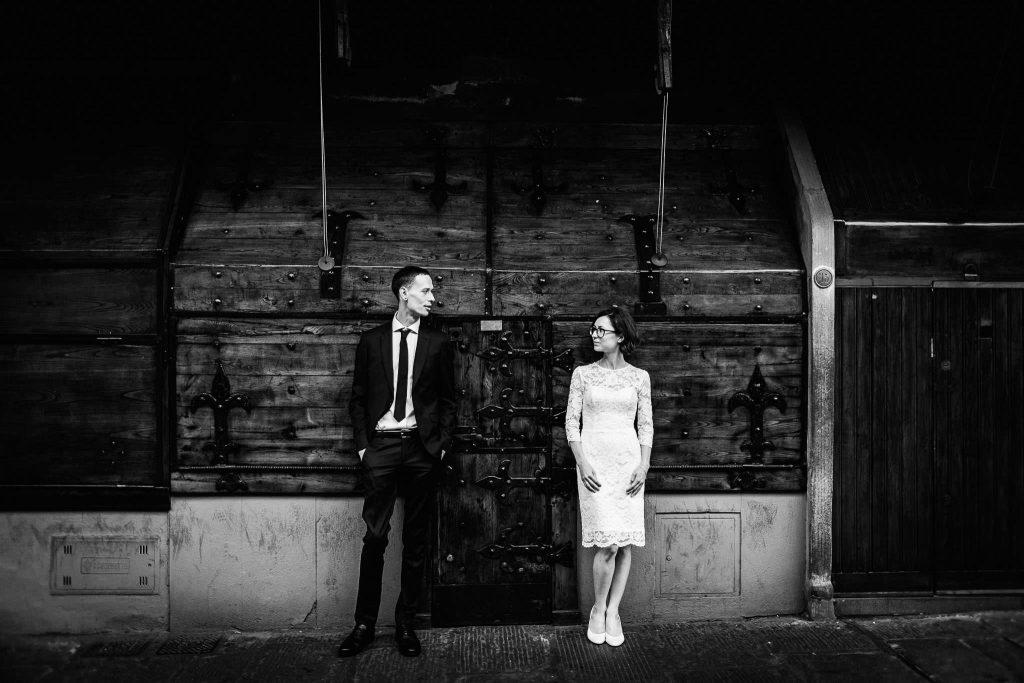 Servizio fotografico di coppia dopo il matrimonio a Firenze75