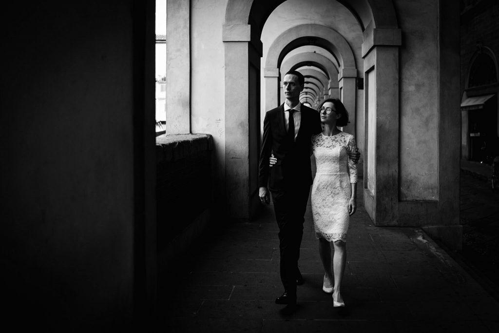Servizio fotografico di coppia dopo il matrimonio a Firenze83