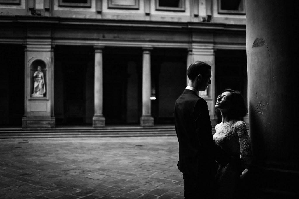 Servizio fotografico di coppia dopo il matrimonio a Firenze86