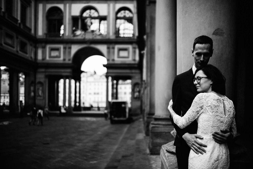 Servizio fotografico di coppia dopo il matrimonio a Firenze87