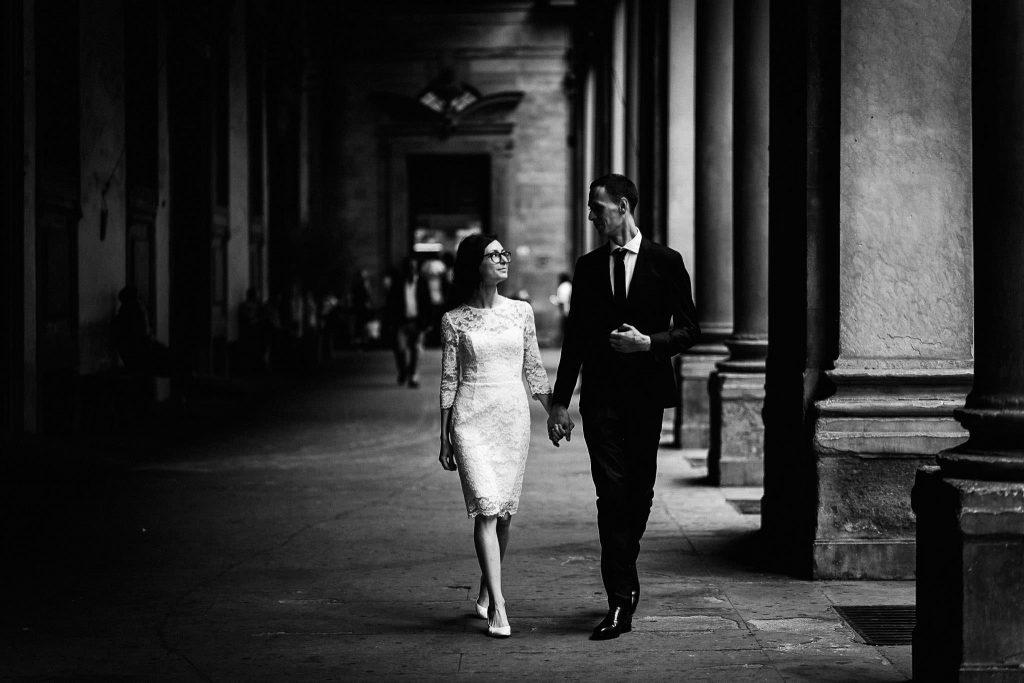 Servizio fotografico di coppia dopo il matrimonio a Firenze90