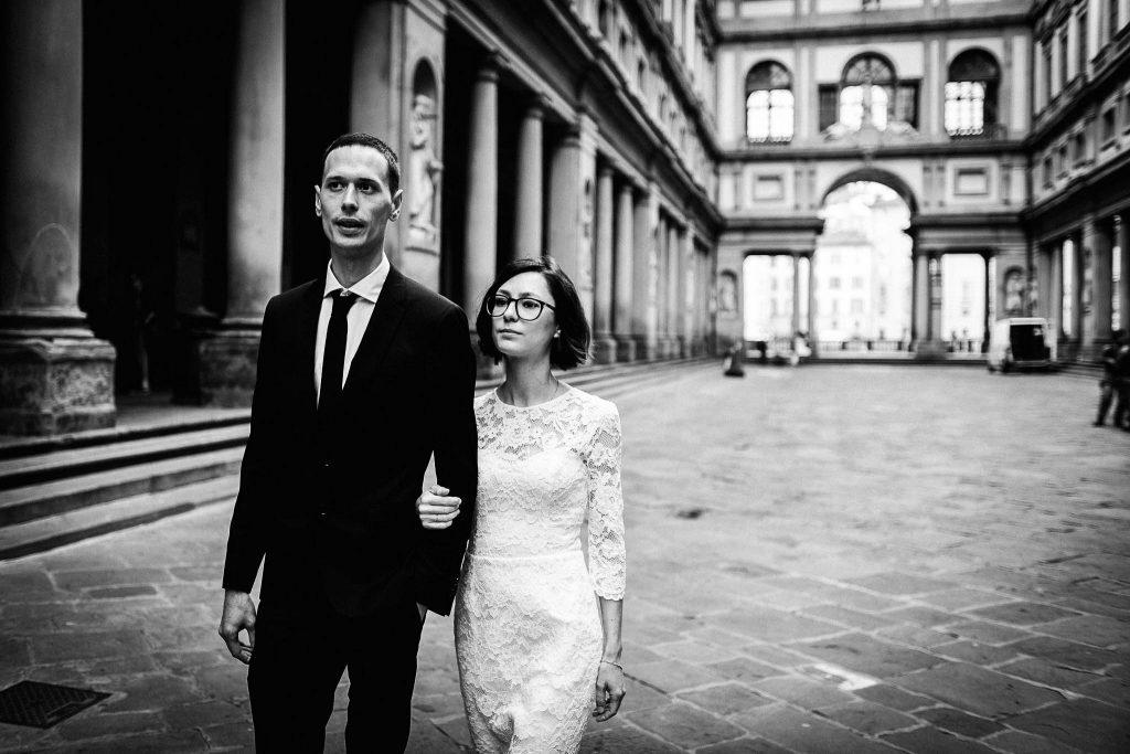 Servizio fotografico di coppia dopo il matrimonio a Firenze91