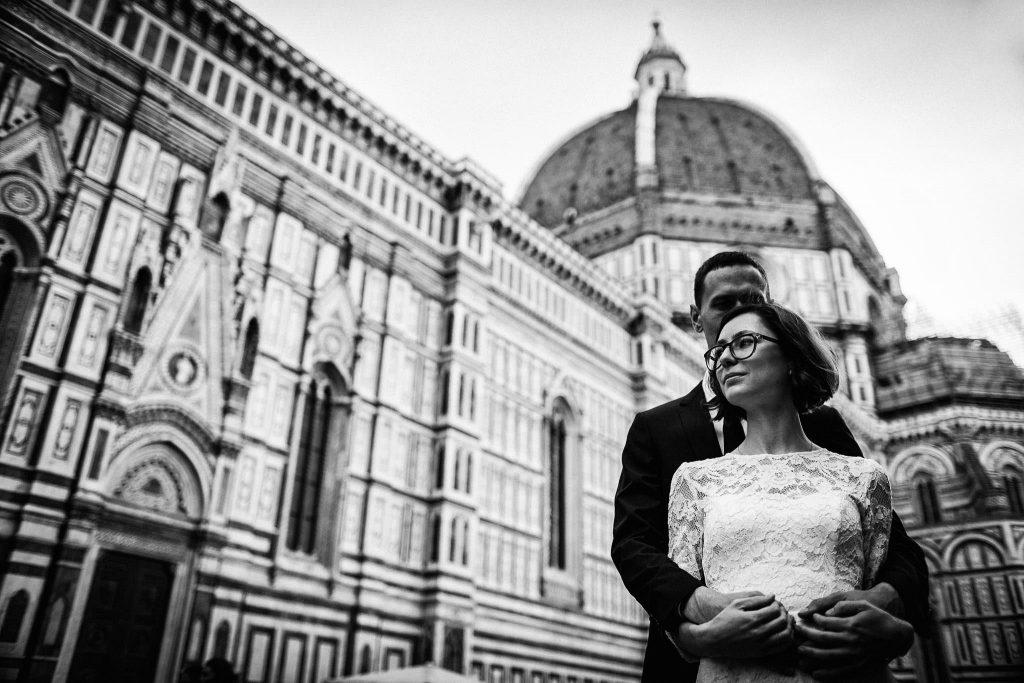 Servizio fotografico di coppia dopo il matrimonio a Firenze95