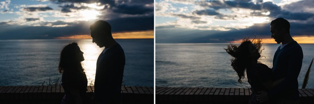 Couple potrait photography in Vernazza and Manarola