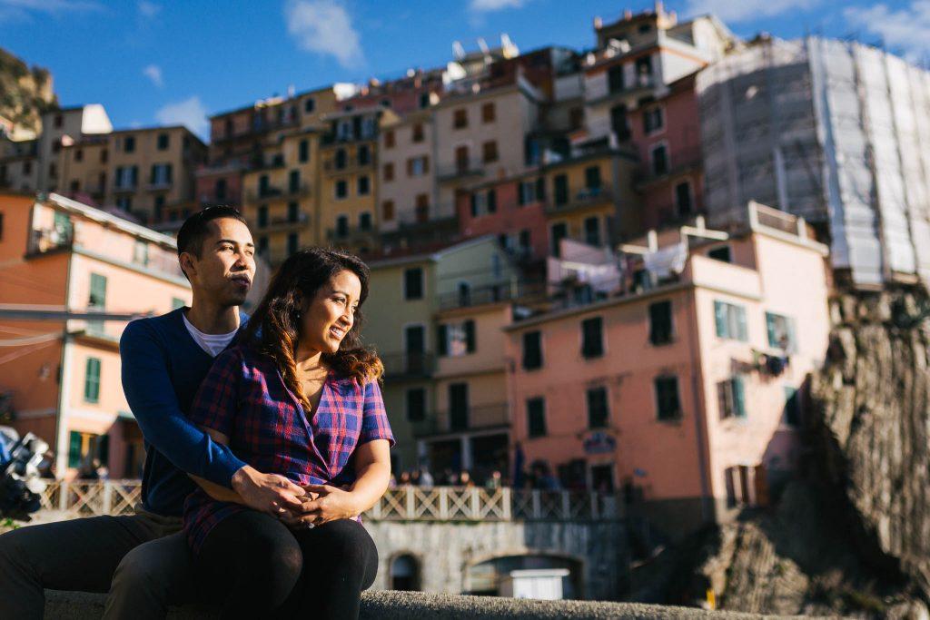 Servizio fotografico di fidanzamento alle cinque terre