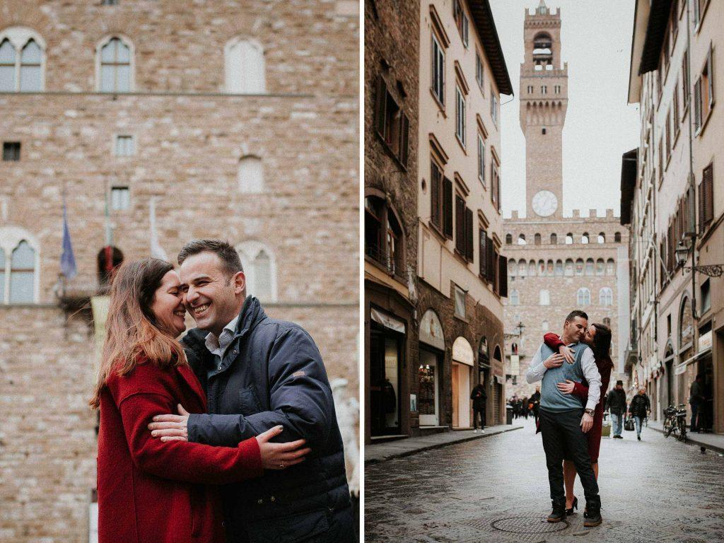 Servizio fotografico di fidanzamento a Firenze