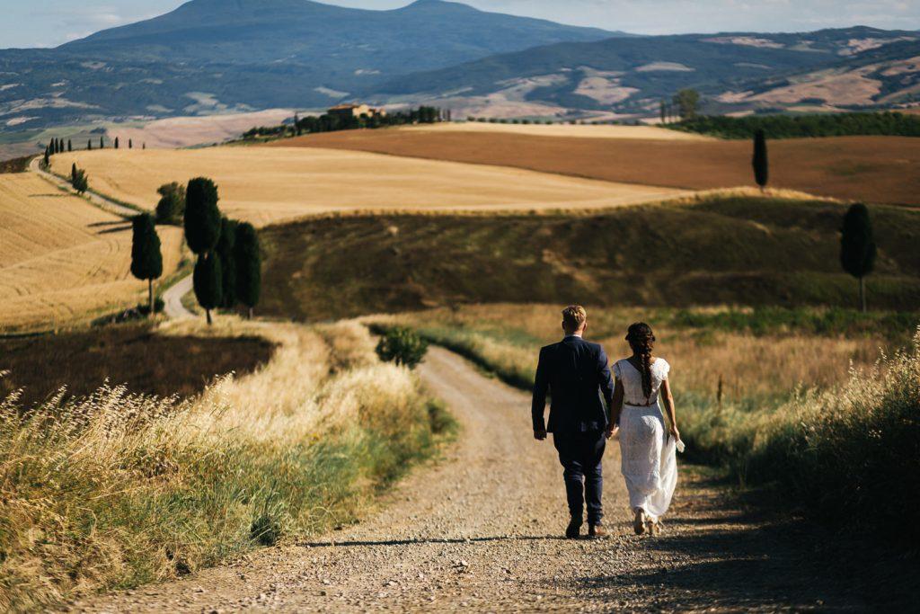 Fotografo matrimonio toscana Val d'Orcia