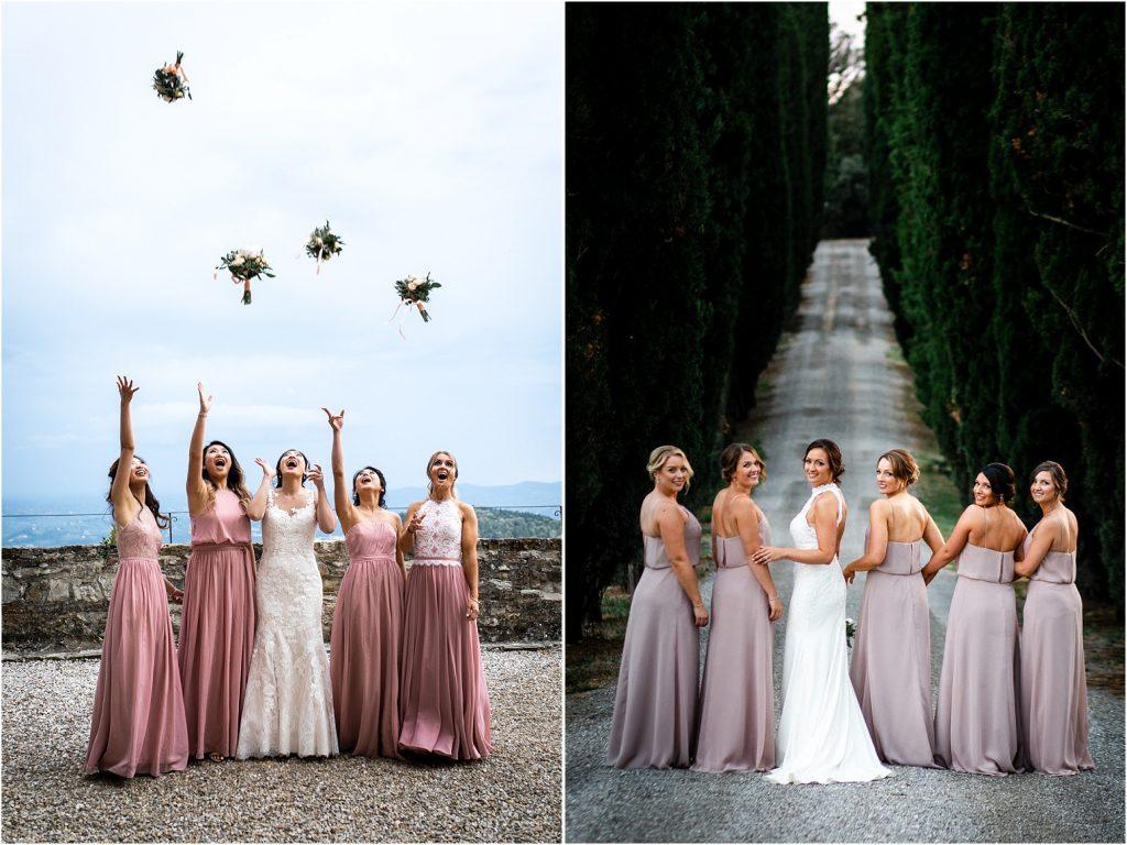 foto di gruppo al matrimonio