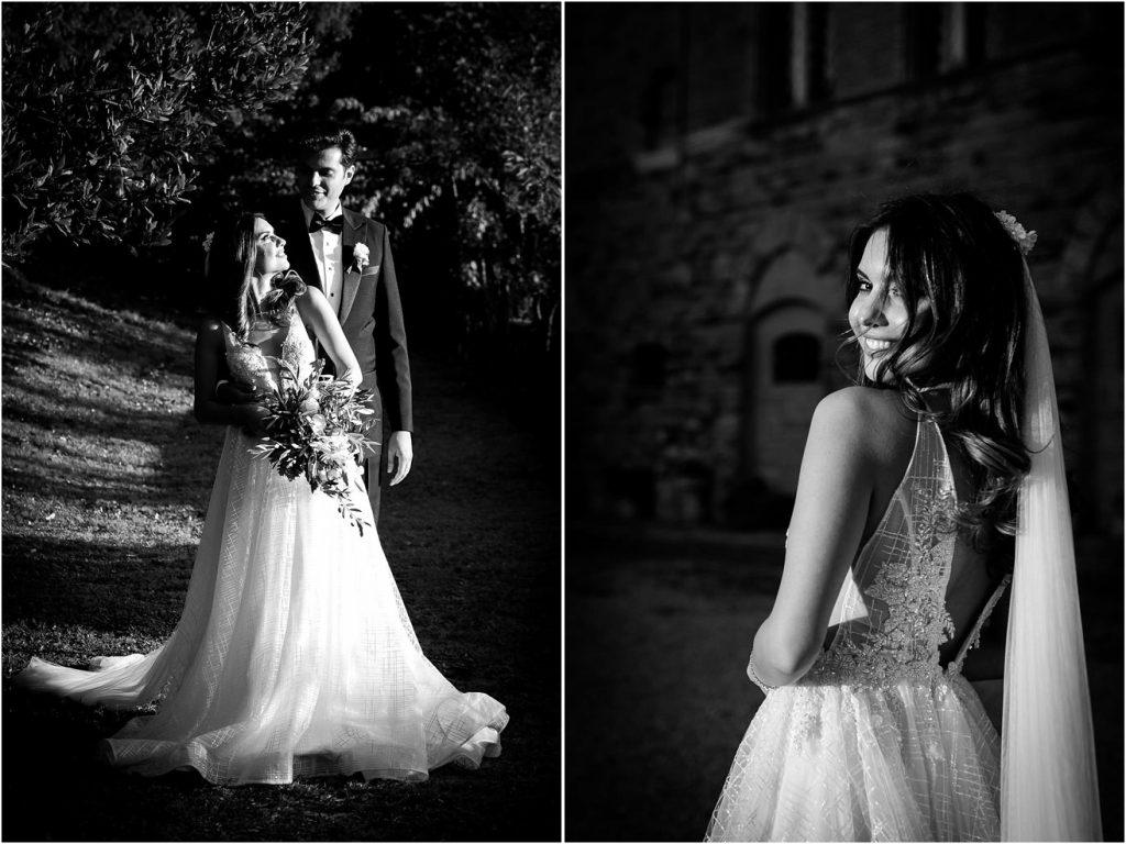 Foto di matrimonio al castello di Valenzano in Toscana 106
