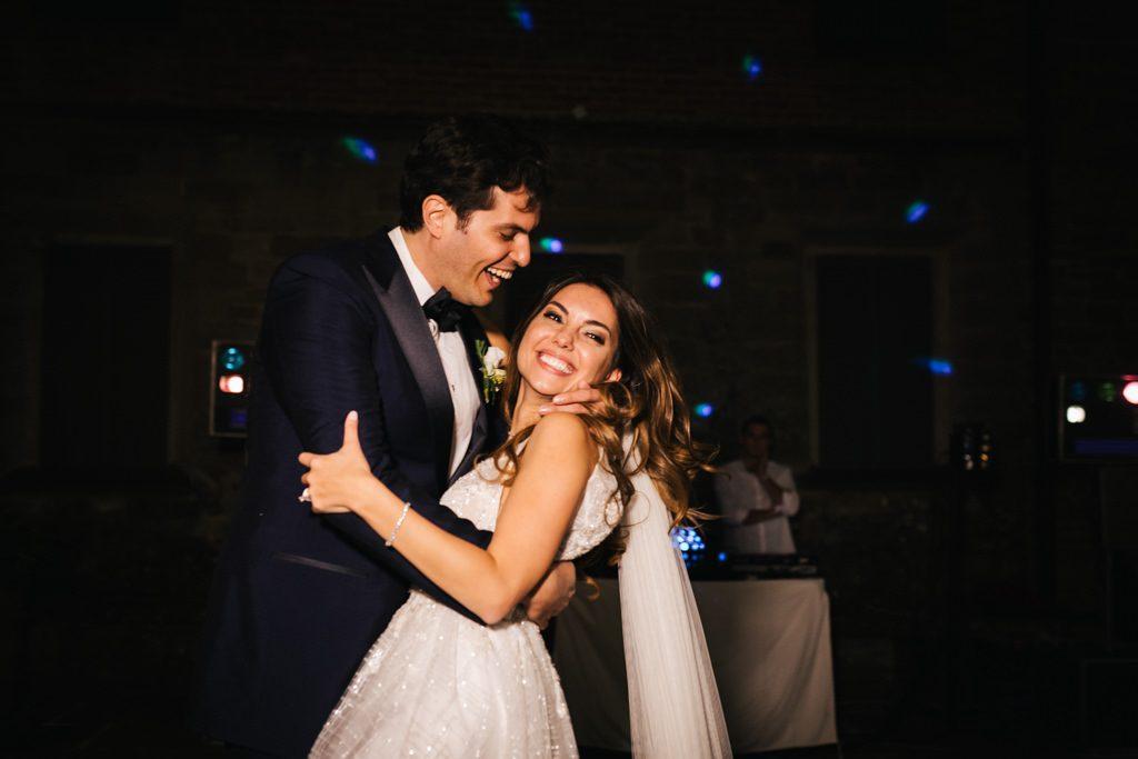 Foto di matrimonio al castello di Valenzano in Toscana 83
