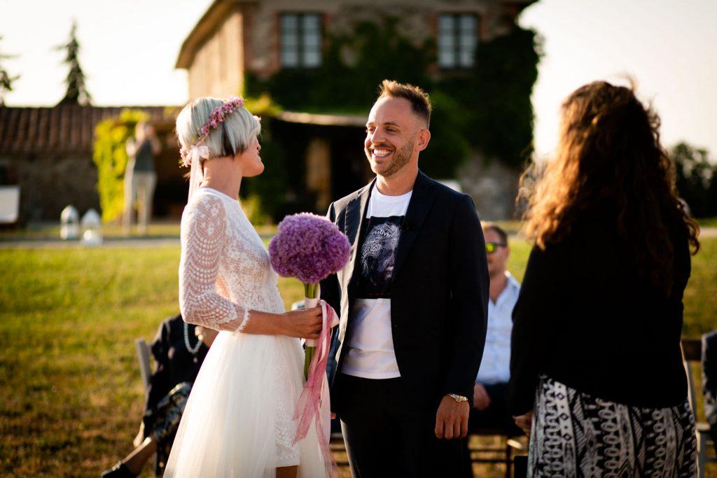 Matrimonio intimo in val d'orcia