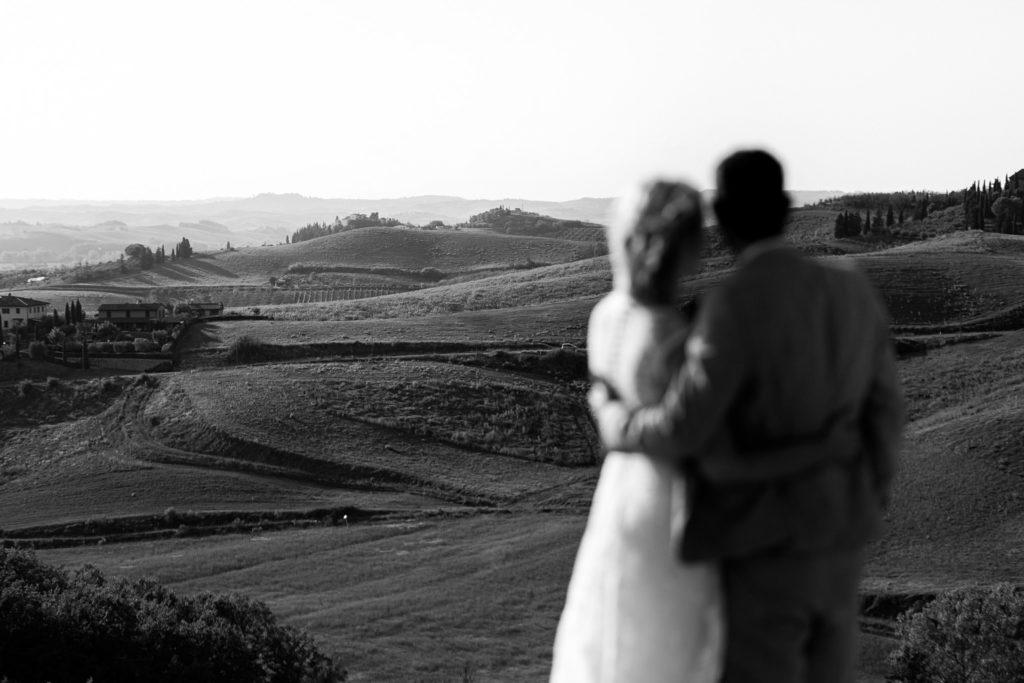 Foto di matrimonio nella campagna Toscana
