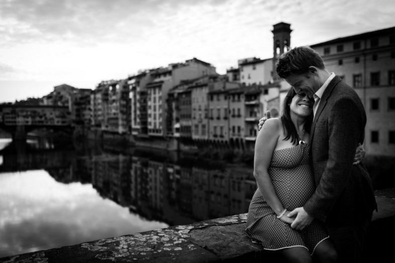 Servizio fotografico di maternità nel centro di Firenze